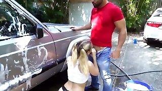 ne claque pas ma belle-fille ultra-perverse sierra nicole déchire le mec du lavage de voiture