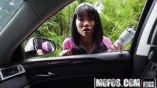 Mofos - Stranded Teens - Rina Ellis - Half Asian Hottie Fucks