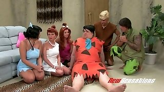 Kinky porn parody video to the Flintstones toon vid