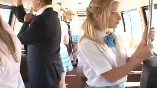Blonde receives torn up on bus