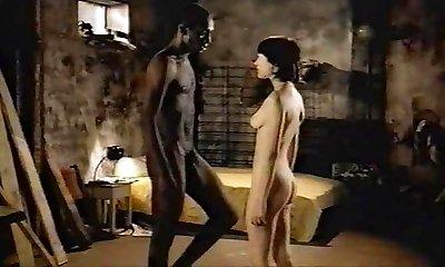 maro-părul lăptos de sex feminin cu dark-hued amant - fara penetrare bi-rasiale