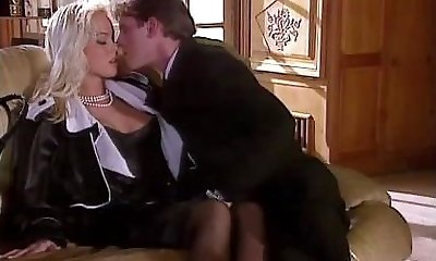 Silvia Saint Pokes the Lawyer and Masturbates His Cum