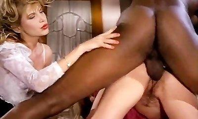 Barbarella, Moana Pozzi, Sean Michaels in well-dangled black retro porn star doing latin chicks