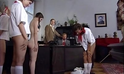 Czech minxes got punished with an rump-whipping