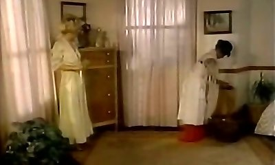 Lustful domina seduces maid and makes her eat pussy