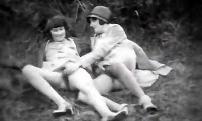 Teen Beauty and Her Perverted Sitter (1920s Antique)