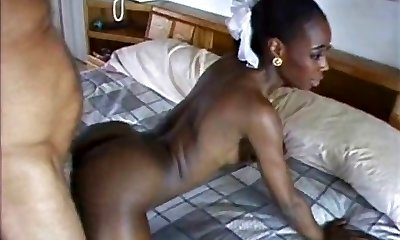 Pretty African Milf fucked by white boy