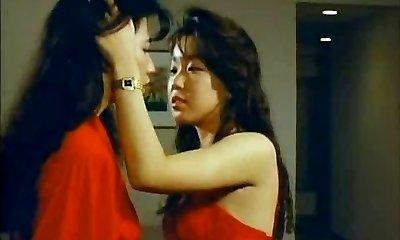 Japanese lesbians and a big dildo chisel