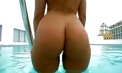 Alexis Takes A Dip