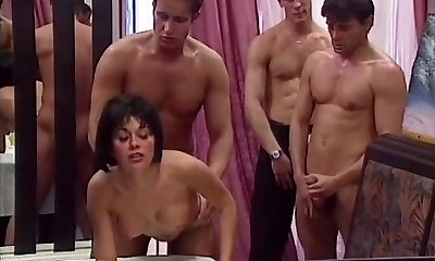 Rita Cardinale, Gangbang and Mass Ejaculation in the Restaurant