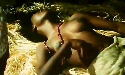 dezbrăcat până la brâu africane gal faci un dans tribal (1970 vintage)