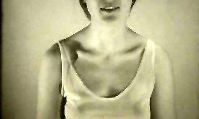 Babe Films Herself Tugging (1960s Vintage)