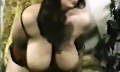 Retro Big-titted,Furry Woman Plays With Toy