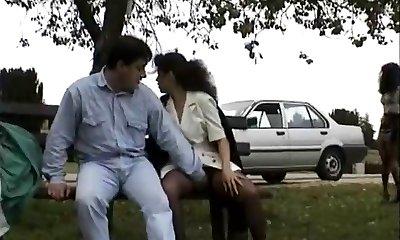 Vintage clamp of Babes enjoying flashing public sex