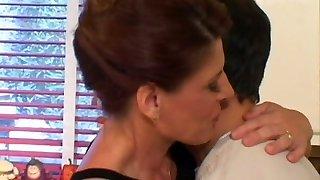 Cougar mother Linda Roberts seduces a young stud