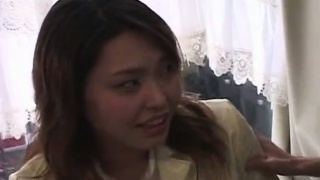 Subtitled crazy Japanese bottomless lotion insertion