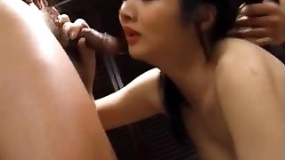 Maya licked and fucked with vibrator and penis