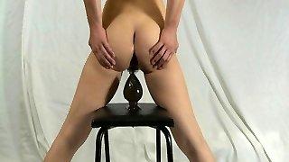 Elmer wife self anal destruction with huge dildo