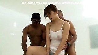 Crazy Japanese model Azumi Harusaki in Amazing Handjobs, Interracial JAV tweak