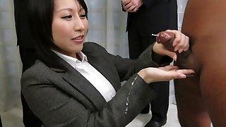 Amazing Japanese breezy Yuuna Hoshisaki in Hottest JAV uncensored Handjobs clip