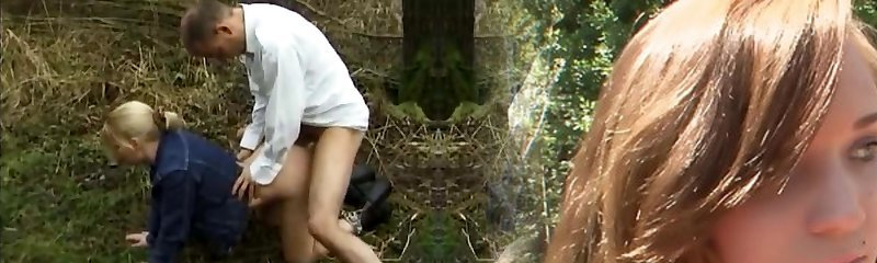 Retro Teen Fucked In The Forest