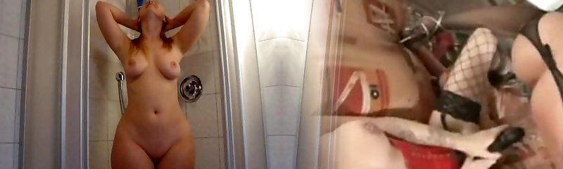 Classic blonde Phat Ass White Girl in her prime takes shower
