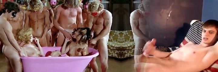 Pinkish Bath For Bukkake
