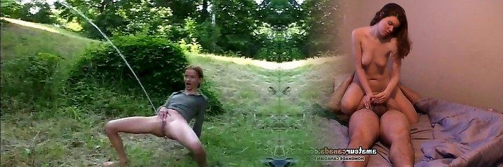 sexy kinky skinny nubile outdoor power pee