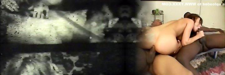 Ultra-kinky brunet deepthroats a humungous white cock in classic porn