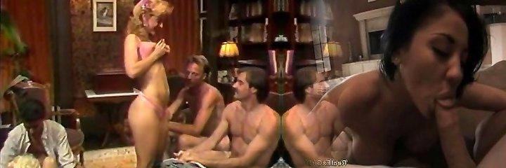 Super Hot retro group sex activity with Nina Hartley