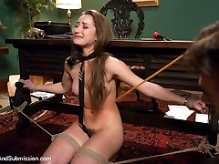 The stunningly beautiful and sexually explosive Dani Daniels does her roughest and most hardcore sex and bondage scene for Sex and Submission!  In this fantasy role-play, Dani Daniels discovers that her new boss is ex-boyfriend James Deen.  After a messy breakup, she now finds herself at the mercy of his sadistic authority.  Dani reluctantly agrees to play by his rules only to be subject to complete sexual domination in the privacy of his office.  The initially defiant Dani Daniels gets broken down to a whimpering submissive slut!  She endures the most intense multiple orgasms and gets pounded hard while in bondage.  A must see!