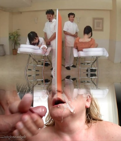 Lubricant Massage Daughter and Mommy-two