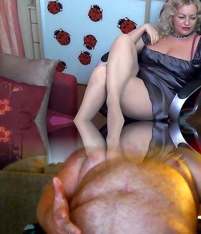 blonde mature pantyhose cam