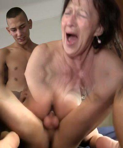 Grandma Enjoys Young Boy's Balls and Ass