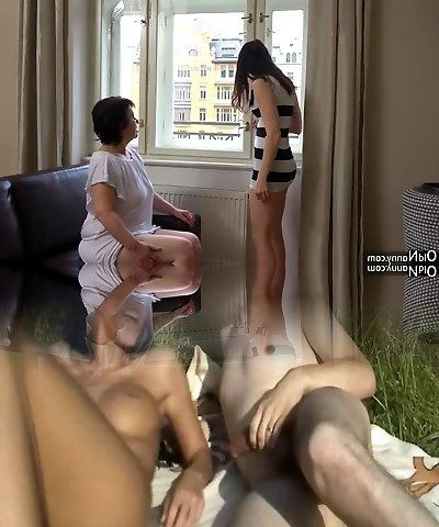 OldNanny Sexy dame masturbate hairy grandmother pussy