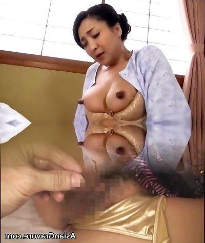 Japanese Cougar Masturbate 17