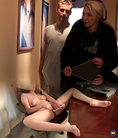 Youthful Boy Seduce German MILF Friend of Mother to Nail