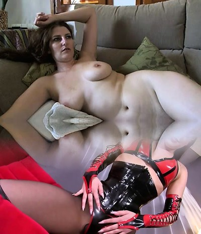 Busty mature brunette with huge boobs and hairy pussy unwraps