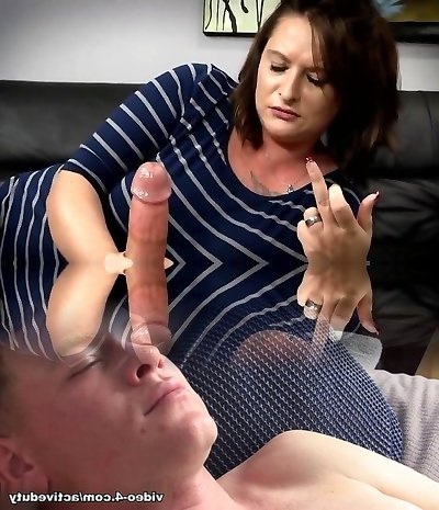 Mom Gives Son Harsh Handjob
