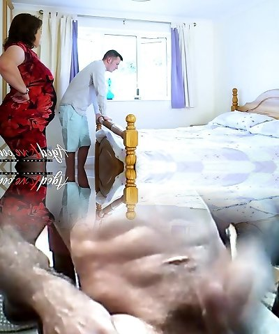 AgedLovE Big-titted Mature Toying Hard with Handy Man