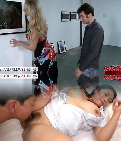 Sexy platinum-blonde mom Julia Ann gets big bosoms fucked