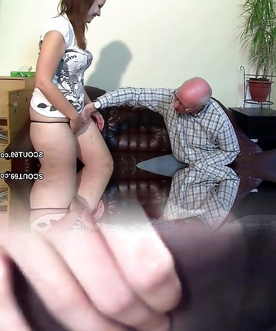 Elder Grandfather Seduce not Grand-daughter to First Fuck
