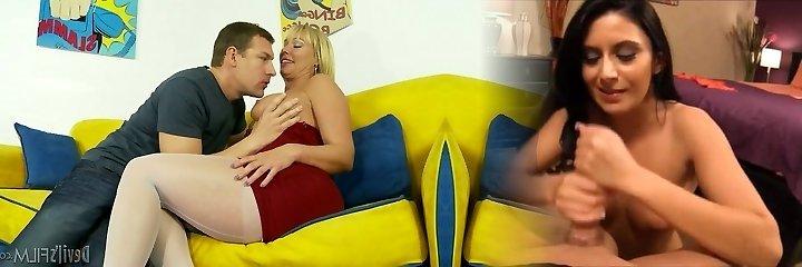 tórrida madre rubia mellanie monroe en hot-out rojo con el chica insaciable jerry