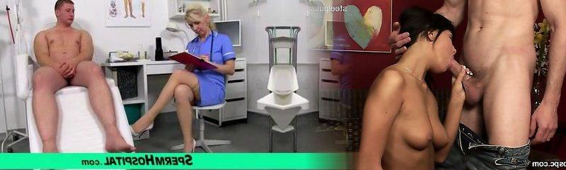 Stockings gams milf doctor Maya cum on mammories