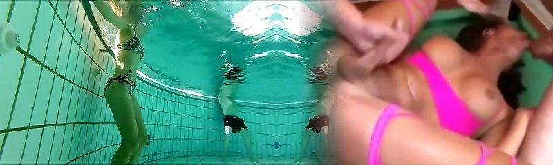 havuzda jetleri ile frolicking fransız 45 yo mükemmel bod