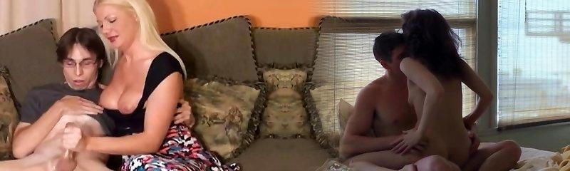 Mom Gives Virgin Man Handjob