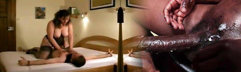 Iris Von Hayden railing cock