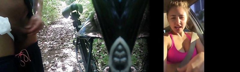 mumia zaprezentować moją rurę w lesie