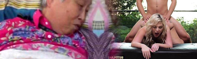 bardzo dobry chiński babci anal