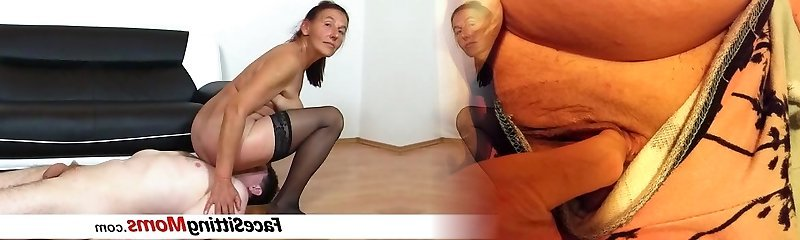 Perverted czech gilf Linda facesitting and bushy muff